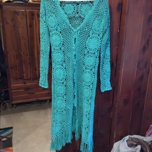 Spell & The Gypsy Collective Sweaters - Spell mermaid crochet kimono